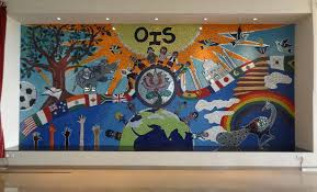 wall size mural at oberoi international school the metrognome