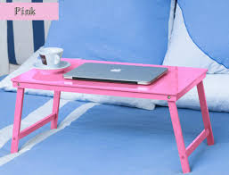 Pink Laptop Desk Fashion Style Portable Lapdesks Folding Laptop Table Bed Computer