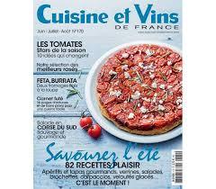 abonnement magazine de cuisine cuisine et vins de la revue qui donne envie edigroup