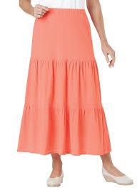 cotton skirt 100 cotton crinkle tiered skirt carolwrightgifts