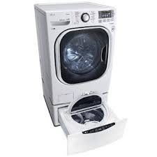 Pedestal Washing Machine Lg Lg Wm4370hwa Wd100cw 4 5 Cu Ft Front Load Washer W Steam
