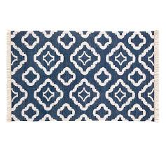 Navy And White Outdoor Rug Recycled Yarn Indoor Outdoor Rug Navy Blue Pottery Barn