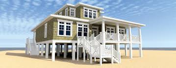 Small Beach Cottage House Plans Elevated Stilt Piling And Pier House Plans Builderhouseplans Com