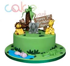 jungle theme cake odc141 jungle themed 1st birthday 1kg designer cakes cake