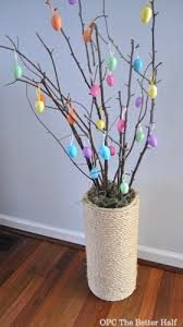easter egg trees 5 minutes or less 5 dollar store easter decor ideas one project