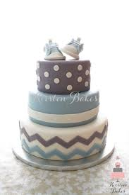 baby shower cake baby boy sneakers converse blue grey white