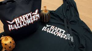 halloween totes customizing a halloween shirt and tote using rhinestones siser