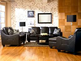 apartments entrancing decorating living room black leather sofa
