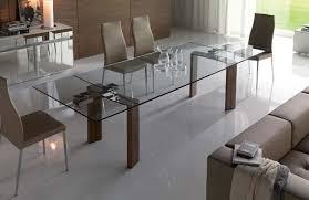 contemporary furniture design of daytona glass extendable dining