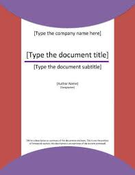 design of cover page for project cover page template for project report purple circles letter simple