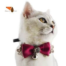 personalized made pu leather layer bowknot pet cat
