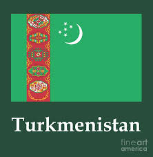 Flag Of Turkmenistan Turkmenistan Flag And Name Digital Art By Frederick Holiday