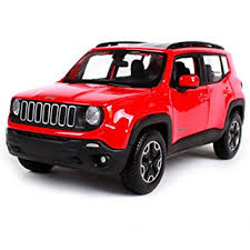 jeep red 2017 amazon com maisto 1 24 2017 jeep renegade red diecast model car toy
