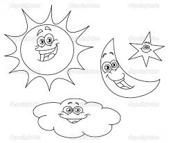 sun moon coloring pages 28 free colouring pages