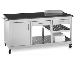 stainless steel prep table with drawers stainless steel outdoor kitchen cart kitchen design ideas