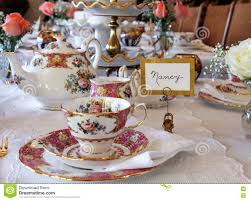 Table Setting Pictures by Lovely Tea Time Table Setting Stock Photo Image 75776895