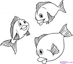 how to draw a fish how to draw a cute fish cartoon with simple