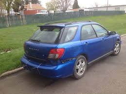 blue subaru hatchback 2002 subaru wrx wagon full part out