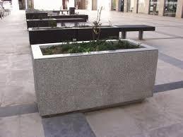stainless steel planter cor ten steel concrete rectangular