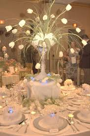 wedding table centerpieces arctic winter wedding theme wedding table decorations