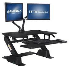 sit and stand desk converter eureka ergonomic height adjustable standing desk converter sit to