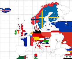 Europe Flag Map by Meta 2050 Flag Map Of Europe Worldpowers