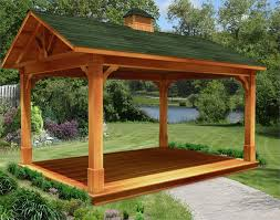 red cedar gable roof open rectangle gazebos with 6 12 roof pitch