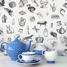 alice in wonderland u0027 self adhesive wallpaper adhesive wallpaper