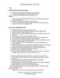 Rn Job Description Resume Rn Job Description Rn Duties Er Nurse Job Description Resume