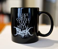 black metal coffee mug black