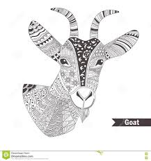 goat oloring book stock vector image 73287288