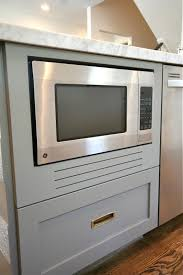 Kitchen Microwave Cabinets Design Dump How To Fake A Built In Microwave