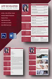 resume portfolio template app developer resume cover letter portfolio template free
