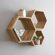 raw restorations triangle and hexagon shelves wall decor walls
