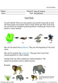 free unit 4b habitats printable resource worksheets for kids