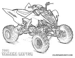 four wheeler coloring pages 4872