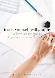 I Want To Learn Fashion Designing Online Free Teach Yourself Calligraphy Online With This Free Workshop From