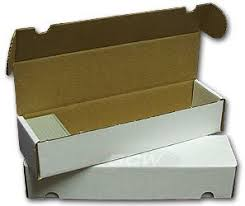 bcw 800 count corrugated cardboard storage box