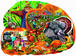 country harvest br thanksgiving br shaped puzzle