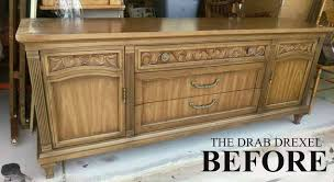 painting new life into a drab drexel buffet sideboard chalkpaint