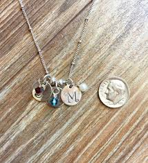 Stamped Initial Necklace Stamped Necklace The Necklace