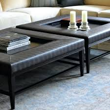 Large Square Storage Ottoman Table Coffee Table Grey Square Modern Leather Large Ottoman Design
