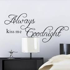 kiss me goodnight quote explore wall decals for bedroom wall art decal and more