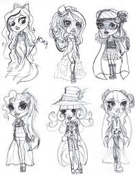 monster high chibi coloring pages monster high ghouls rule coloring pages copy sketch dump ghouls rule