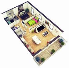 two bed room house 3d modern two bedroom house plan house plan ideas