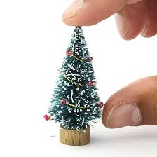 Mini Decorated Christmas Trees Miniature Decorated Bottle Brush Tree Christmas Miniatures