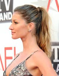 ponytail hair gisele bundchen ponytail hairstyle for hair popular haircuts