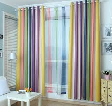 Rainbow Curtain Rainbow Multi Color Blackout Striped Curtains For Bedroom