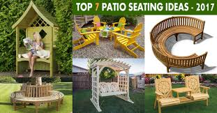 Backyard Seating Ideas by Top 7 Patio Seating Ideas U0026 Designs For 2017