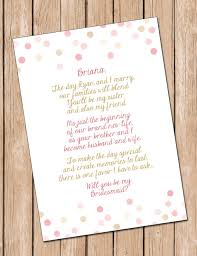 to be card will you be my bridesmaid digital file in card